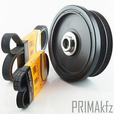 Conti 6PK2080 +4PK917ELAST V-RIBBED BELTS + belt pulley crankshaft BMW E46