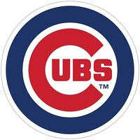"""Chicago Cubs MLB Color Die Cut Vinyl Decal - You Choose Size 3""""-28"""""""