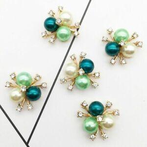 New DIY Rhinestone Button Creative Pearls Jewelry Wedding Decoration Accessories