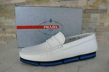 PRADA 40 talla 6 Mocasines Zapato Cerrado Tipo Mocasín blanco NUEVO