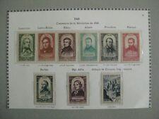 Centenaire de la révolution 1848, 1948  YT n° 795 à 802 **  et 805 **