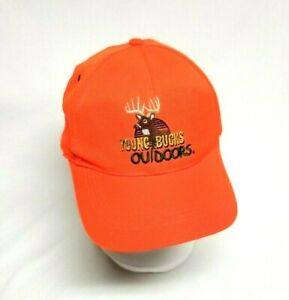 Young Bucks Outdoor Buckmaster Deer Hunting Hat Ballcap Safety Orange YOUTH SIZE