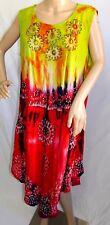 Jessica Taylor Femme Grande Taille 3x Asym Gypsy Cravate Teinture Robe Tunique