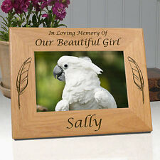 Personalized Bird Memorial Frame - In Loving Memory Of My or Our Beautiful Girl