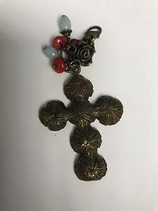 Lenny & Eva Jewelry Rose Cross Red Blue Beads Mojo New Charms brass
