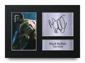 Mark Ruffalo Signed A4 Framed Printed Autograph Avengers Print Hulk Photo Gift