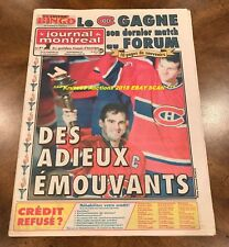 3/12/1996 MONTREAL FORUM Closing FULL NEWSPAPER Le Journal de MONTREAL Turgeon