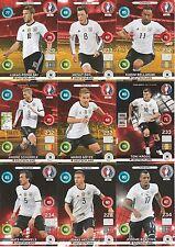 Panini Adrenalyn XL UEFA EURO 2016 Deutschland alle 9 Team Mate im Set