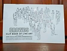 Completo 1968 multitudes Clip Libro De Line Art Harry Volk Jr Art Studio-no 479