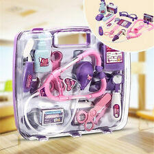 New Pretended Doctor's Nurse Medical Carry Case Kit Roll Play Set Kids Toy YG