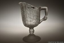 c. 1879 No. 90 & 98 TREE OF LIFE by Hobbs FROSTED COLORLESS Cream Pitcher