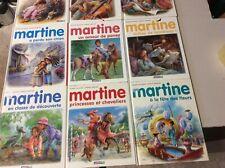 Lot 9 livres Martine (numéroté)