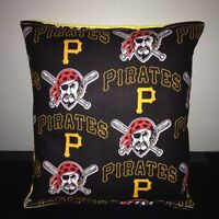 Pirates Pillow Pittsburgh Pirates MLB Pillow Handmade in USA