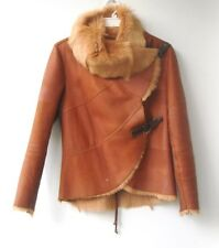 HENRY BEGUELIN  Asymmetrical Shearling Jacket size 44 ITALY