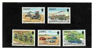 GB Jersey 1980 60th Anniv. of Motor cycle  and Light Car Club set of five MNH