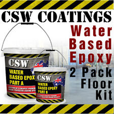 Water Based Epoxy Flooring Kit 10L - 2 Pack Garage Floor Coating, Warehouse etc