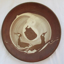 MARY BOWRON STEPPING STONE POTTERY RARE LARGE STUDIO DISPLAY PLATE