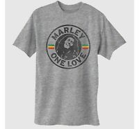 Men's Bob Marley Short Sleeve One Love Graphic T-Shirt - Gray