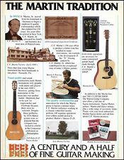 Martin Dreadnought D-45, D-28 acoustic guitar 150th anniversary 1983 ad print