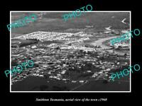 OLD 8x6 HISTORIC PHOTO OF SMITHTON TASMANIA AERIAL VIEW OF THE TOWN c1960 1