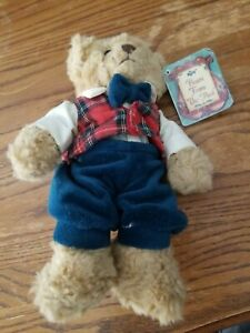Vintage Russ Bears From The Past Christmas Bear Plush Barnaby Holiday