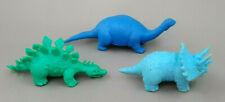 3 Russ Berrie Dinosaurs Hong Kong Rubber Vintage 1980s Figures Brontosaurus Lot