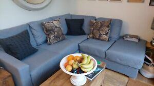 Nabru Corner Sofa Covers Brown Brand New