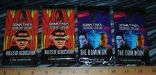 Star Trek Customizable Card Game The Dominion & Rules of Acquisition 4 packs 2ea