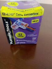 Platinum Tools 100003B Ez-Rj45 Cat 5 Cat5e Pass-Thru Connectors, box of 100 pcs