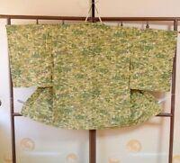 HAORI with Cord Silk Women Grass flowers Japanese vintage Kimono Jacket /298