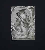 Godfrey IV of Lorraine 17th century Engraving after 1650 Cornelis Visscher Print