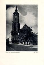 Goldberg in Schlesien Fotoabbildung von 1925 Złotoryja Kirche Ringbrunnen