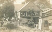 C-1910 Storm Damage Home RPPC Photo Postcard 3713