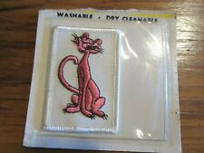 Pink Panther Patch Vintage, New in Package, Nos 2X 3 Inches embroidered applique
