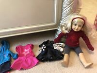 American Girl Doll Just Like You With Authentic Clothes Lot,Comes With Doll Box!