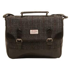 The British Bag Company - Berneray Harris Tweed Briefcase Messenger Bag