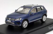 VW TOUAREG 7P II SE 3.0 V6 TDI REEF BLUE FACELIFT 1:43 HERPA (DEALER MODEL)