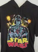 Star Wars Hoodie Size Medium Black Darth Vader Short Sleeve with Bright Graphics