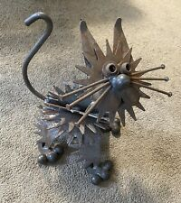Antique Metal Folk Art Figural, CAT FELINE GARDEN ART Door Stop
