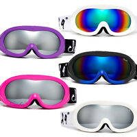 Youth Snow Ski Goggles/Small Face Women Ski Goggles Anti Fog Dual Lens w Pouch