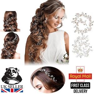Wedding Hair Vine Headpiece Crystal Rhinestones Pearls Bridal Accessories Prom