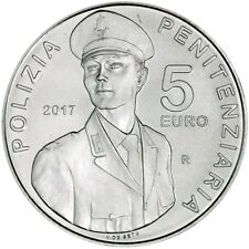 """2017 Italy 5 Euro Silver BU Coin """"Foundation of Prison Constabulary 200 Years"""""""