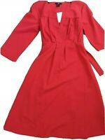 H&M red Midi Dress Size 8