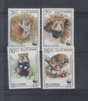 Bulgaria 1994 WWF Rodents Sc 3831-3834 complete mint never hinged