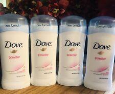 4 x Dove Powder Deodorant Stick Anti-prespirant 2.6oz / 74g Each