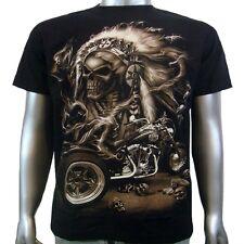 Tatuaje jefe indio de cráneo Warrior Custom Harley Trike Hombre Camiseta M & L
