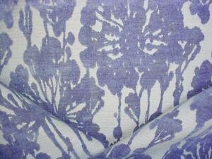 1-7/8Y KRAVET LEE JOFA WOODLAND BLUE FLORAL CHENILLE DAMASK UPHOLSTERY FABRIC