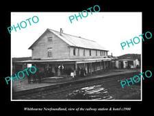 OLD 6 X 4 HISTORIC PHOTO OF WHITBOURNE NEWFOUNDLAND, THE RAILWAY STATION c1900 1