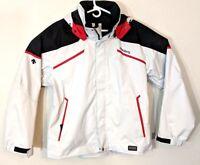Descente D310 Womens Size XL 54 White Jacket Snowboard Hood Outerwear