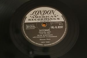 "78 RPM 10"": Slim Whitman - Serenade / I Talk To The Waves - London HL-U 8287"